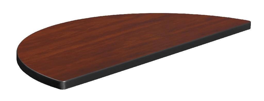 "36"" Standard Half Round Table Top in Cherry/Maple - Regency TTHR36CHPL"