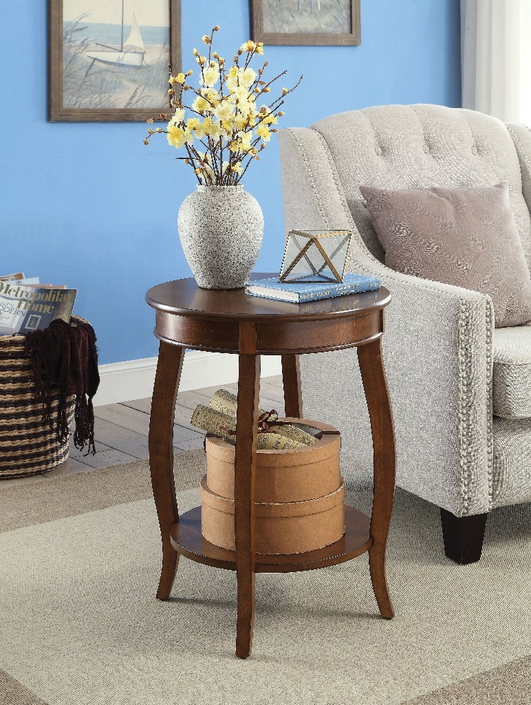 Aberta Side Table in Walnut - Acme Furniture 82789