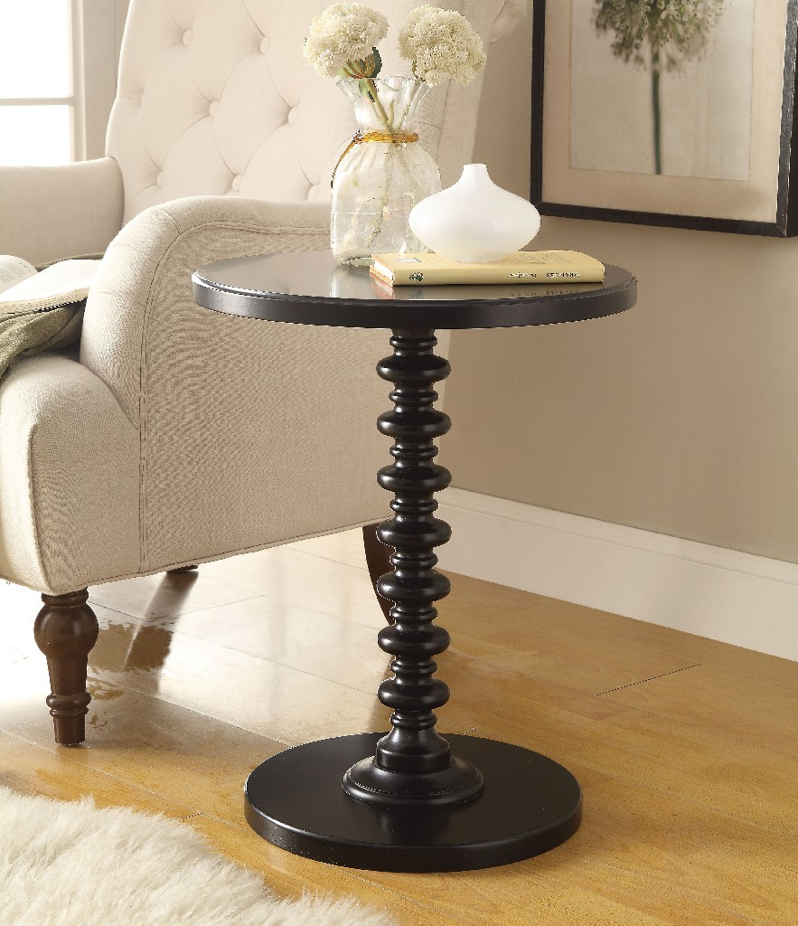 Acton Side Table in Black - Acme Furniture 82794