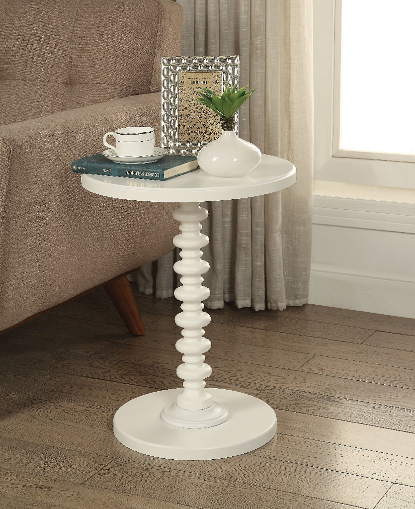 Acton Side Table in White - Acme Furniture 82796