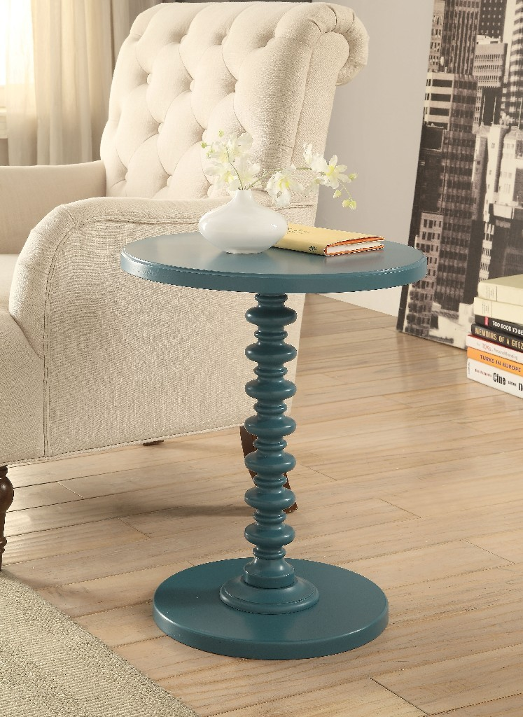 Acton Side Table in Teal - Acme Furniture 82798