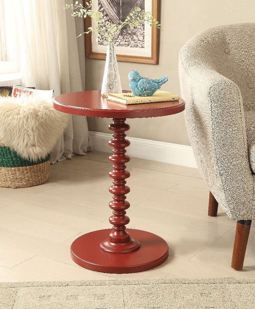 Acton Side Table in Red - Acme Furniture 82800