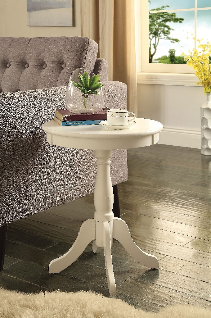 Alger Side Table in White - Acme Furniture 82804