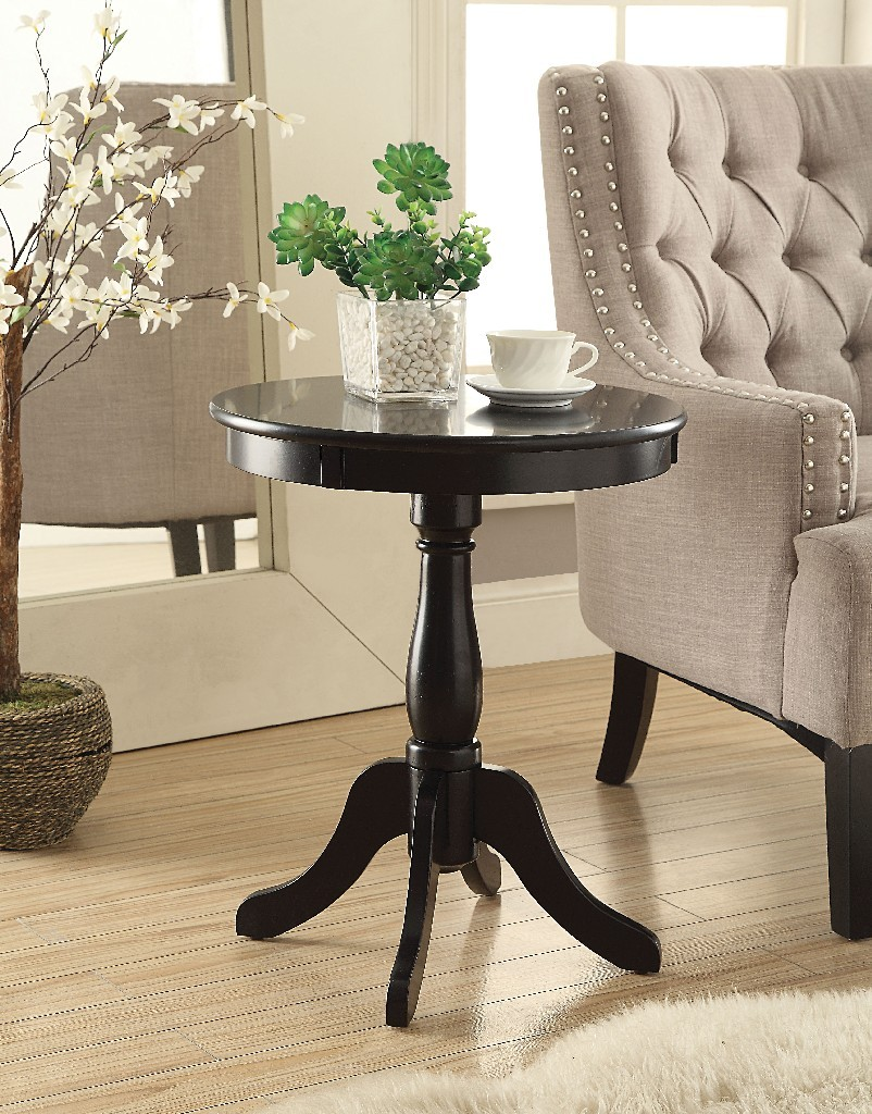 Alger Side Table in Black - Acme Furniture 82808