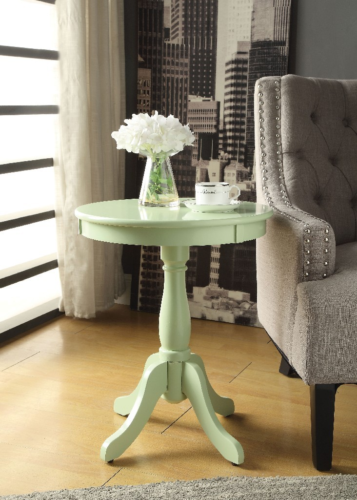 Alger Side Table in Light Green - Acme Furniture 82810