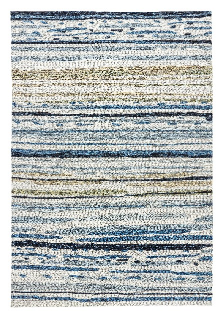 Lauren Wan by Jaipur Living Sketchy Lines Indoor/ Outdoor Abstract Silver/ Blue Area Rug (3