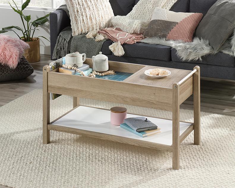 Anda Norr Coffee Table in Sky Oak - Sauder 422055
