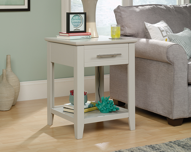 Adept Storage SmartCenter® Side Table in Cobblestone - Sauder 423269