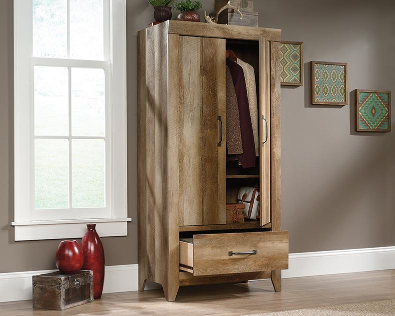Adept Storage Wardrobe in Craftsman Oak - Sauder 424141
