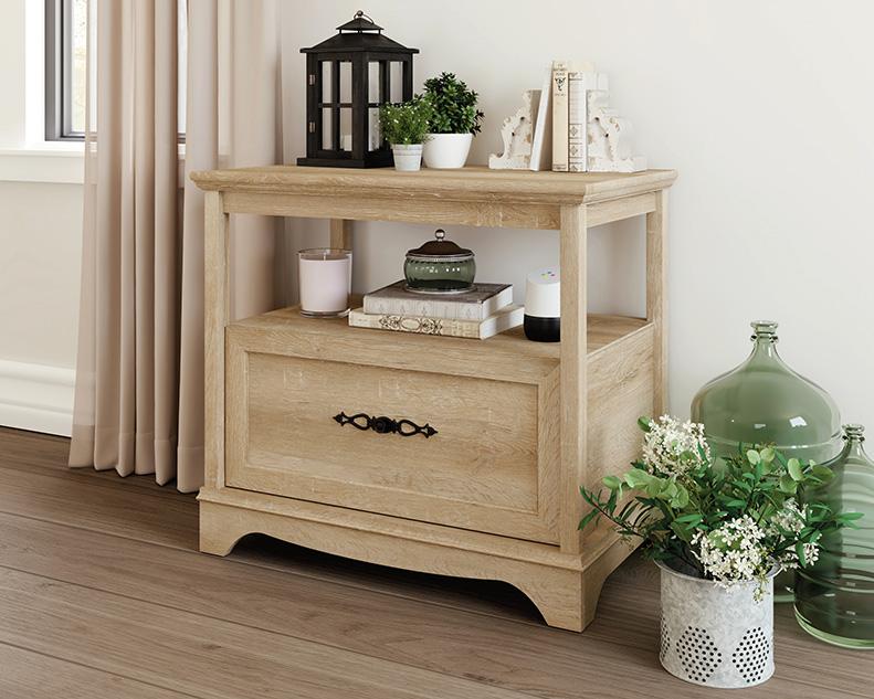 Adaline Cafe Wood Lateral File Cabinet in Orchard Oak - Sauder 425126