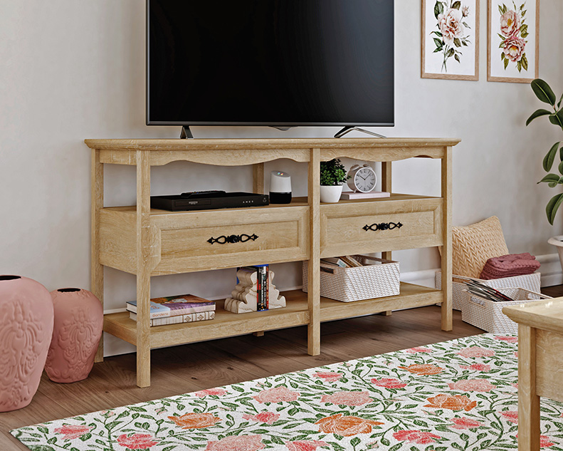 Adaline Cafe Traditional-Styled Wood TV Stand with Storage - Sauder 425133