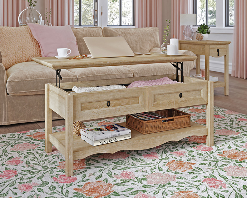 Adaline Cafe Wood Lift-Top Coffee Table in Orchard Oak - Sauder 425134