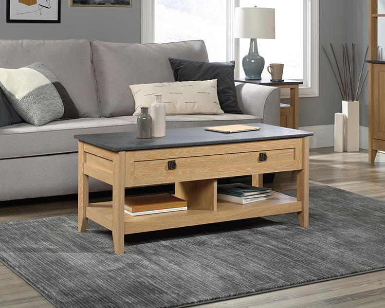 August Hill Coffee Table Lift Top in Dover Oak - Sauder 426055