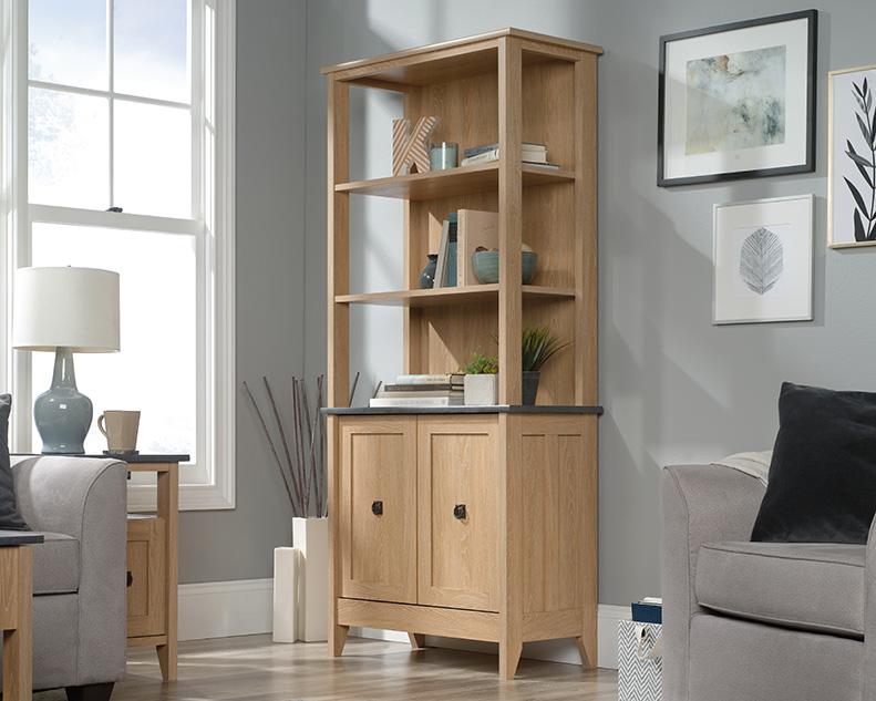 August Hill 5 Shelf Bookcase in Dover Oak - Sauder 426135