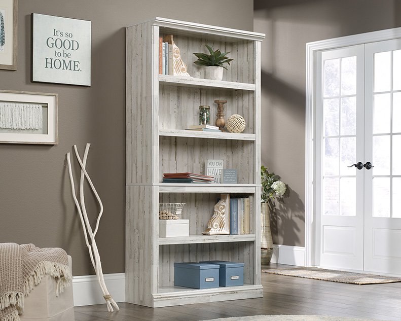 5 Shelf Bookcase in White Plank - Sauder 426423