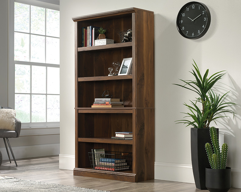 5 Shelf Bookcase in Grand Walnut - Sauder 426424
