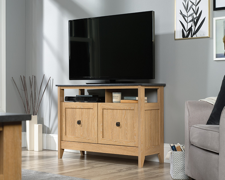 August Hill TV Stand in Dover Oak - Sauder 426616