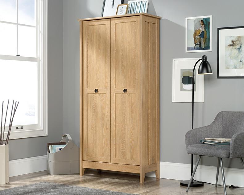 August Hill Storage Cabinet in Dover Oak - Sauder 427162
