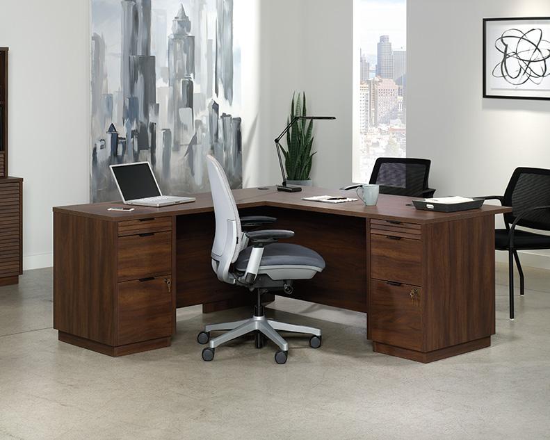 Palo Alto Desk Office Spiced Mahogany