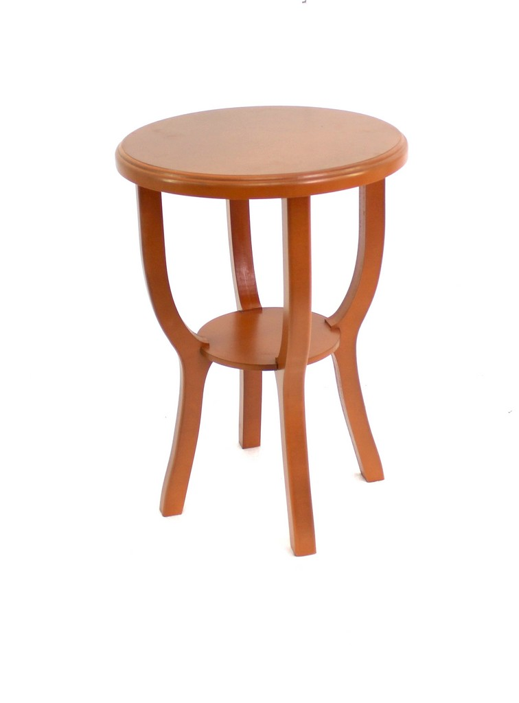 Country Cottage Style Bright Orange Wooden Stool - Teton Home AF-073