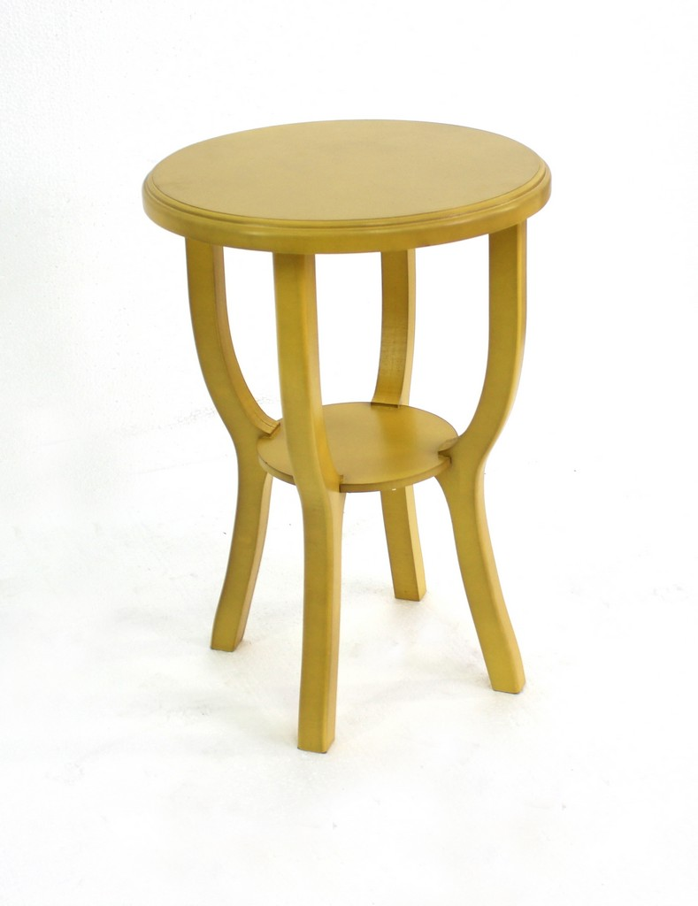 Country Cottage Style Yellow Wooden Stool - Teton Home AF-074