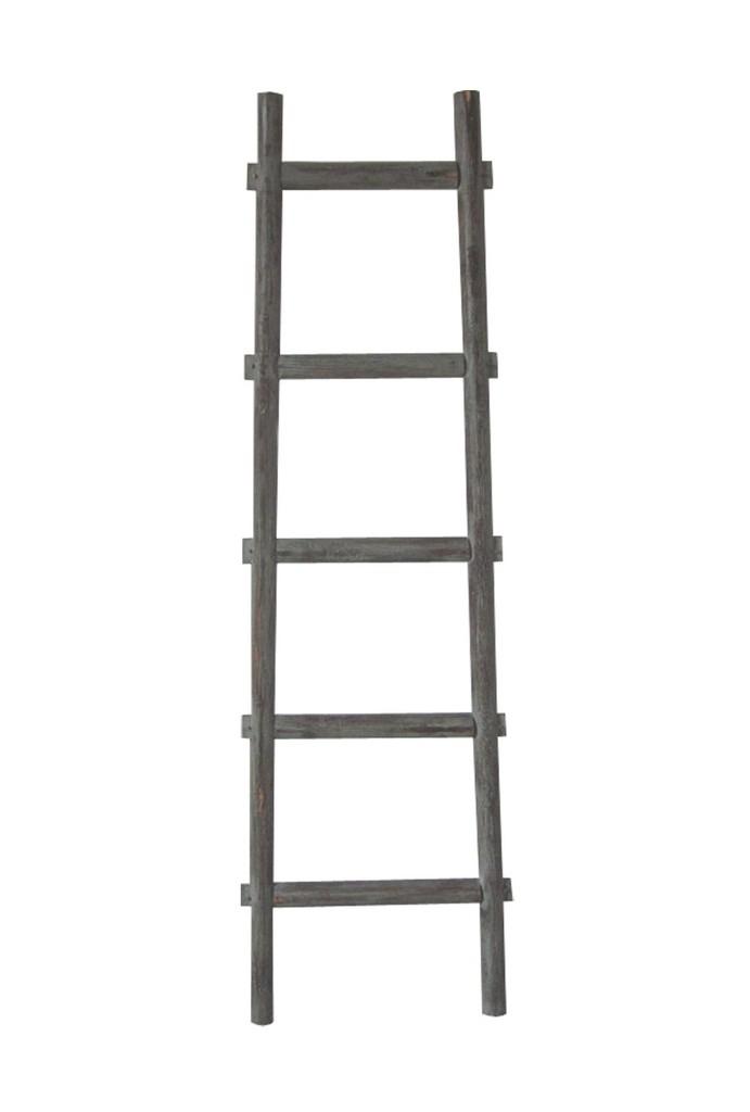 5 Step BlankRock Decorative Wooden Ladder - Screen Gems SGT086-Grey