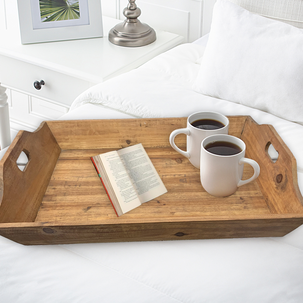 Country Cottage Wooden Serving Tray Set with 3 Pieces - Teton Home TD-006