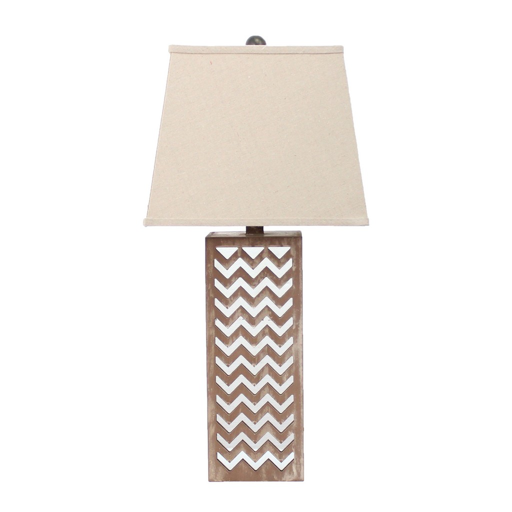 Contemporary Metal Mirror Table Lamp - Teton Home TL-028