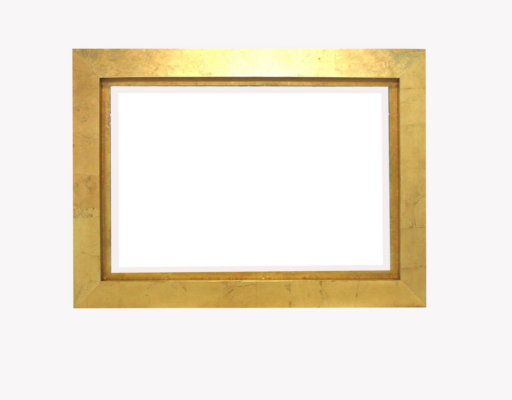 Contemporary Rectangular Gold Cosmetic Mirror - Teton Home WD-083