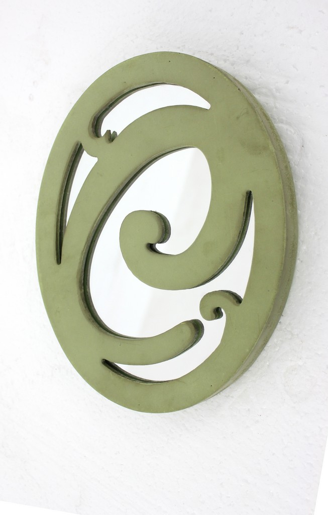 """Cottage Style Artistic Letter """"C"""" Patterned Green Wall Decor - Teton Home WD-134"""