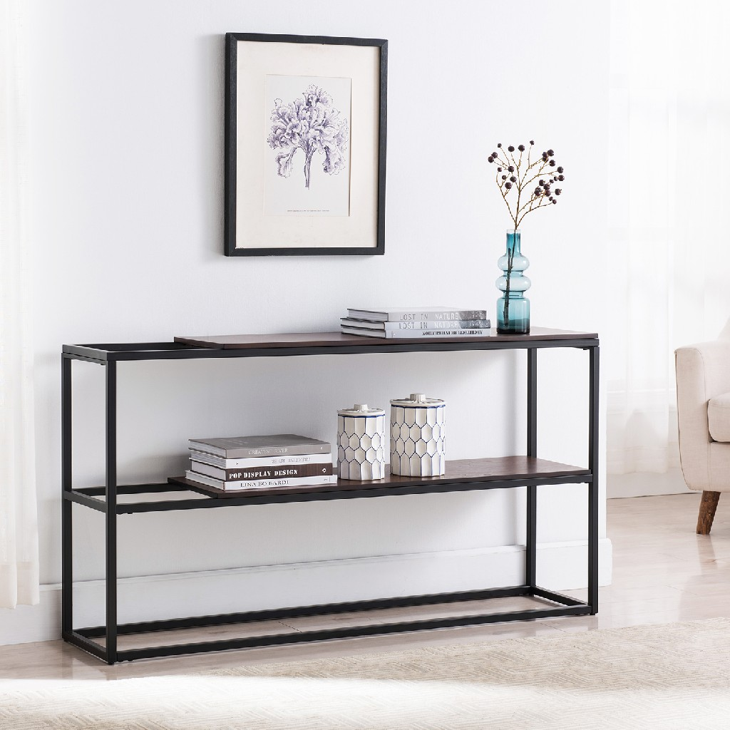 Decklan Sliding Shelf Console Table