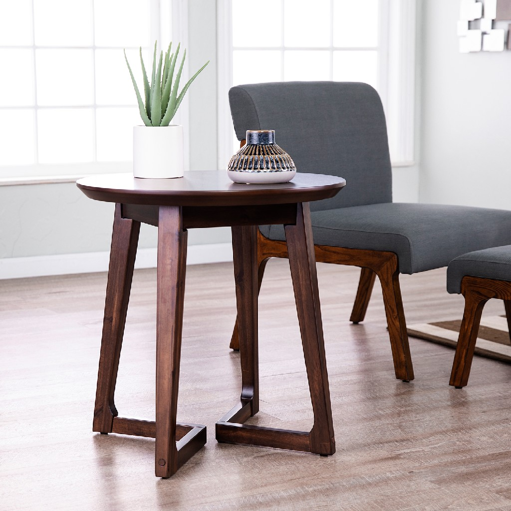 Meckland Midcentury Modern Round End Table - Holly & Martin CK8672
