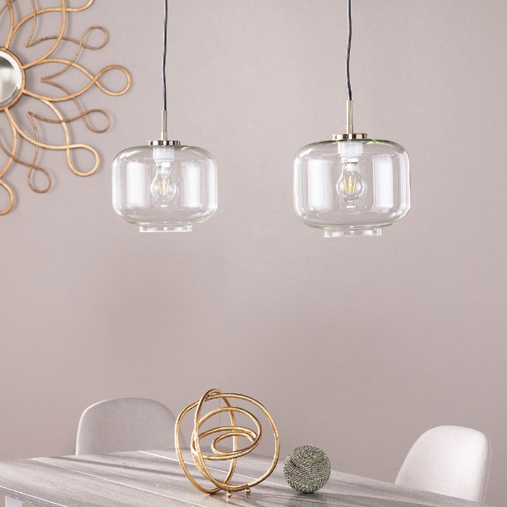 Alandari Glass Pendant Lamps - 2pc Set - Southern Enterprises LT8203S2