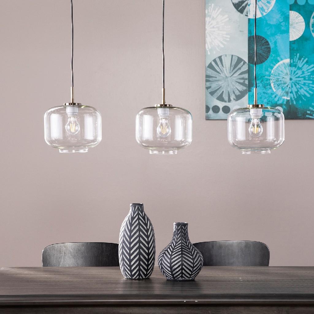 Alandari Glass Pendant Lamps - 3pc Set - Southern Enterprises LT8203S3