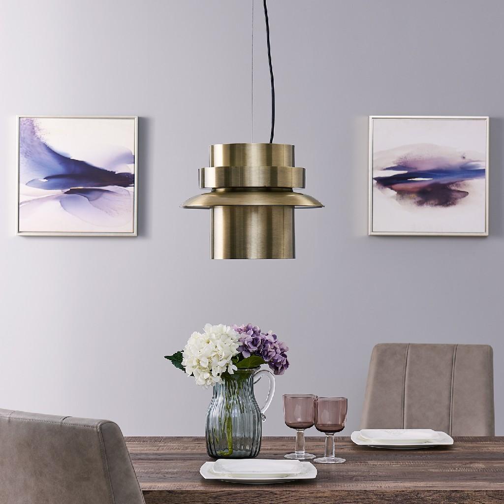 Alistair Metal Art Deco Pendant Light - Southern Enterprises LT8205