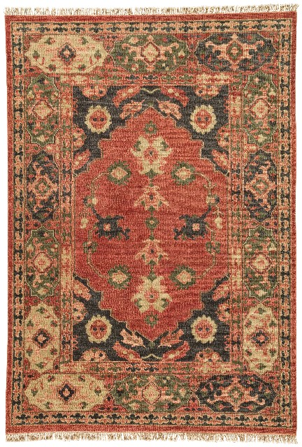 Artemis by Jaipur Living Azra Hand-Knotted Floral Red/ Black Area Rug (9'X12') - RUG124618