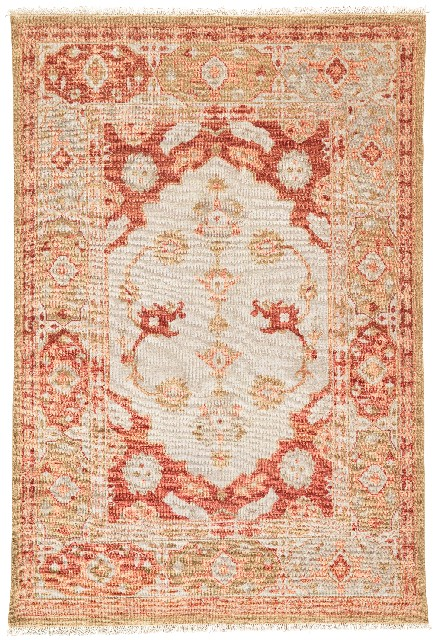 Artemis by Jaipur Living Azra Hand-Knotted Floral Red/ Tan Area Rug (10'X14') - RUG135125