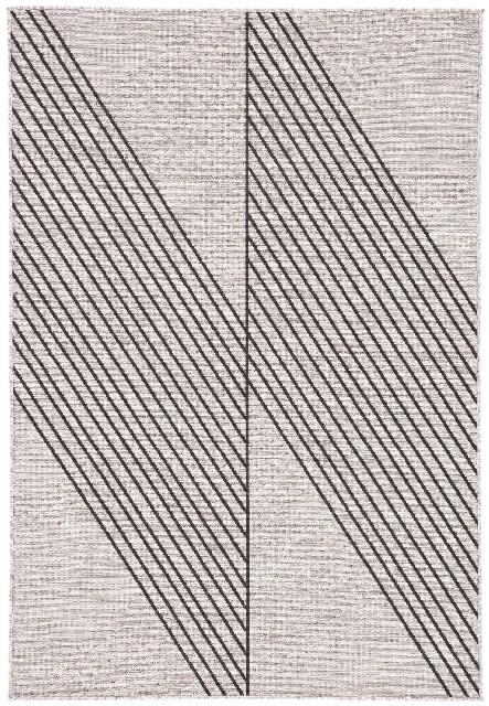 Nikki Chu by Jaipur Living Cyrene Indoor/ Outdoor Geometric Light Gray/ Black Area Rug (2