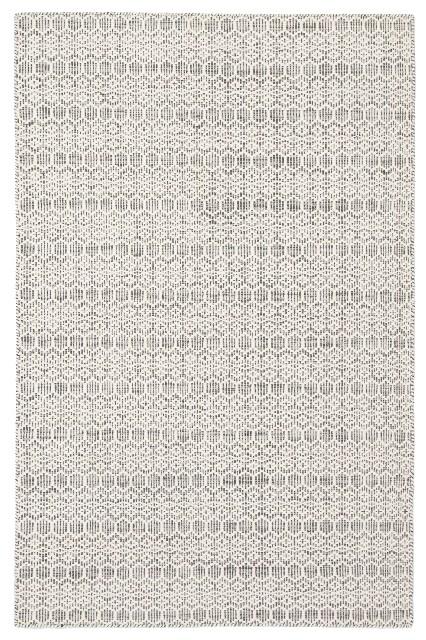Trellis White Gray Area Rug 2X3
