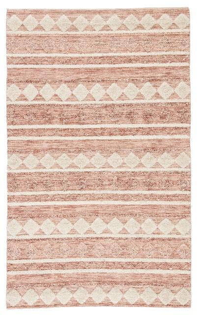 Nikki Chu by Jaipur Living Elixir Handmade Geometric Pink/ Ivory Area Rug (2