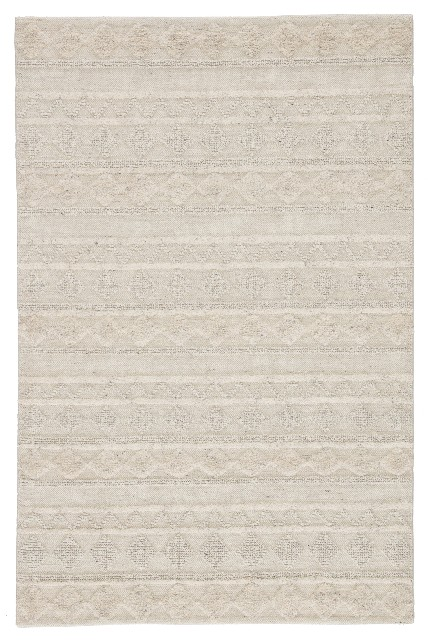 "Nikki Chu by Jaipur Living Elixir Handmade Geometric Ivory/ Light Gray Area Rug (8'10""X12') - RUG141937"