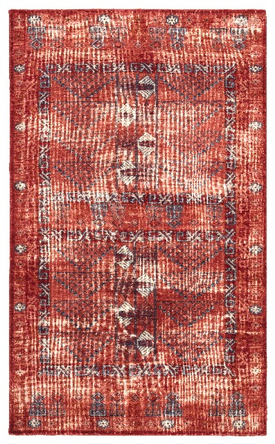 Jaipur Living Montreal Hand Knotted Tribal Red Blue Area Rug 710x10 Rug141963