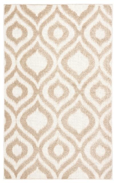 Nikki Chu by Jaipur Living Ezzine Indoor/ Outdoor Trellis Beige/ White Area Rug (8