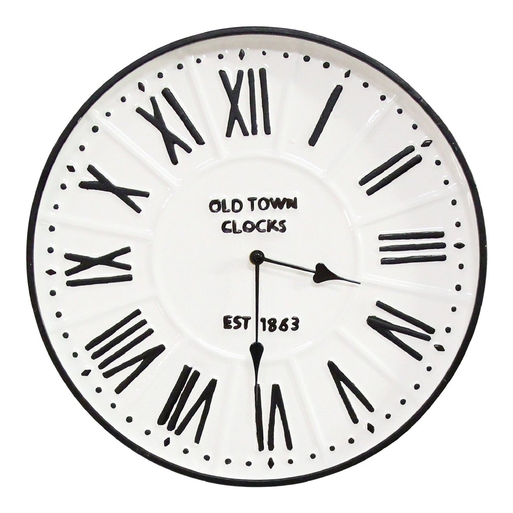 "16"" Metal Enamel Parker Wall Clock - Stratton Home Decor S23692"