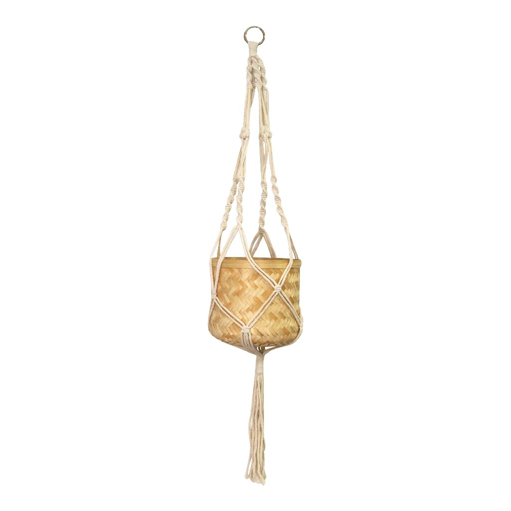Macrame Hanging Planter Stratton Home Decor S23693