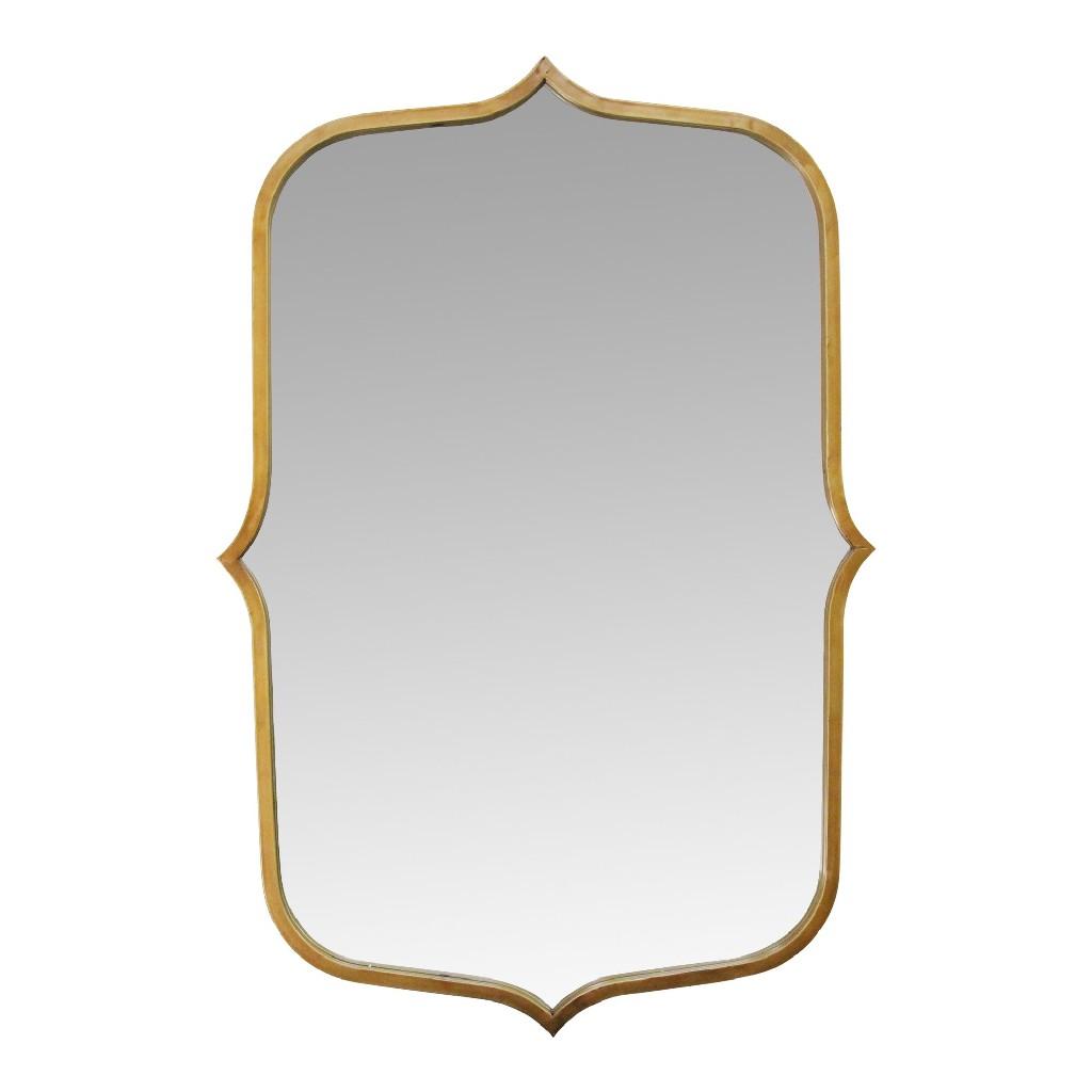 "36"" Hillary Gold Metal Mirror - Stratton Home Decor S23701"