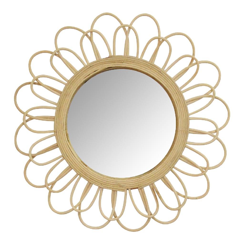 """18.25"""" Diana Rattan Wall Mirror - Stratton Home Decor S23766"""