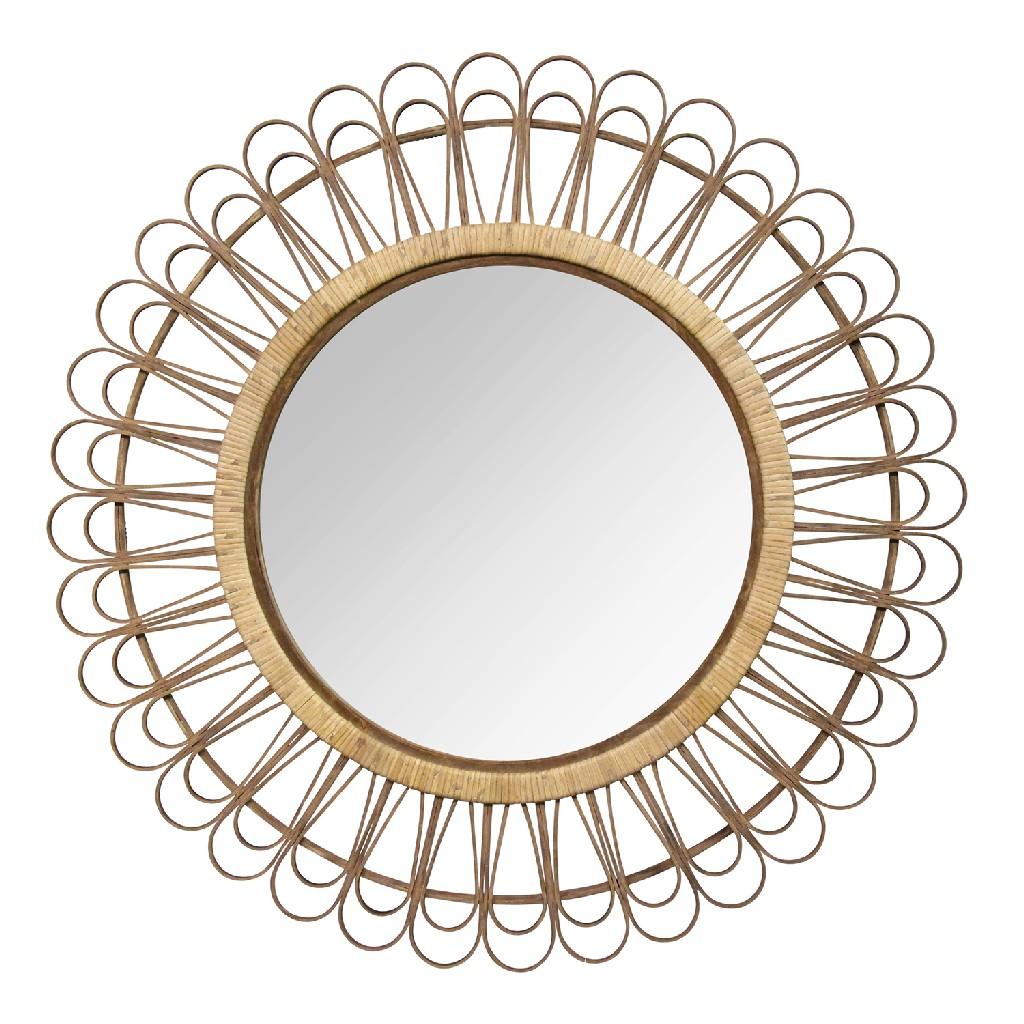"""33.86"""" Tulum Rattan Mirror - Stratton Home Decor S23807"""