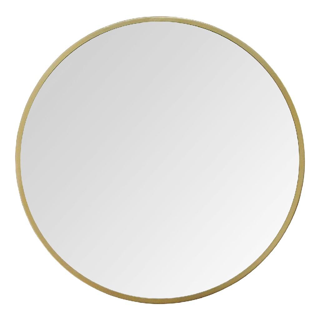 "28"" Aubrey Gold Metal Wall Mirror - Stratton Home Decor S23820"
