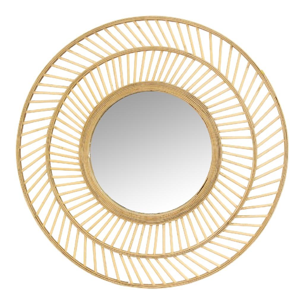 """31.50"""" Kristen Rattan Wall Mirror - Stratton Home Decor S23821"""